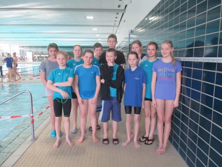 Schwimmabteilung beim 39. Kamener Hallenschwimmfest